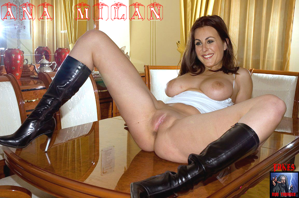 mature boots in naked women