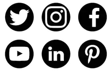 Volg mij via sociale media