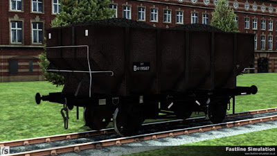 Fastline Simulation: This dia. 1/146 unfitted 21t coal Hopper had just been marked as 21T and at some point in the past saw some grey paint which is just managing to survive here and there.
