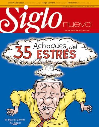 Participación en portada e interiores. Torreón Abril 2008