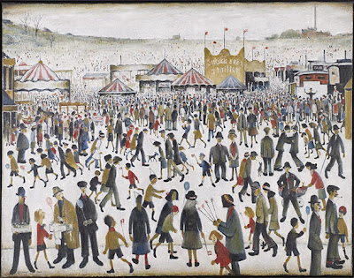 L.S. Lowry (1887-1976)  -  Good Friday, Daisy Nook