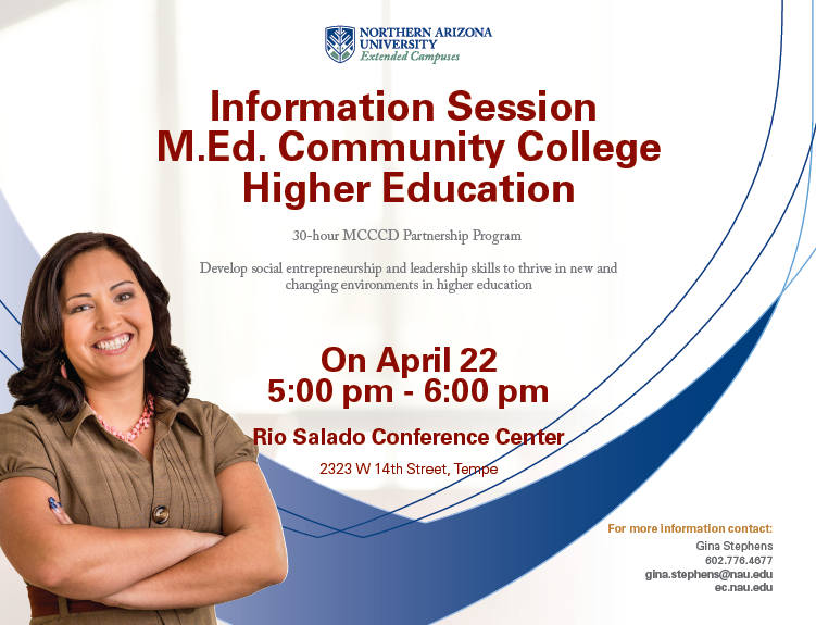 Event web banner, featuring student.  Text is outlined fully below.