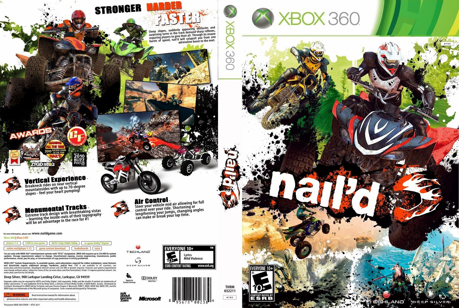 Capa Naild Xbox 360