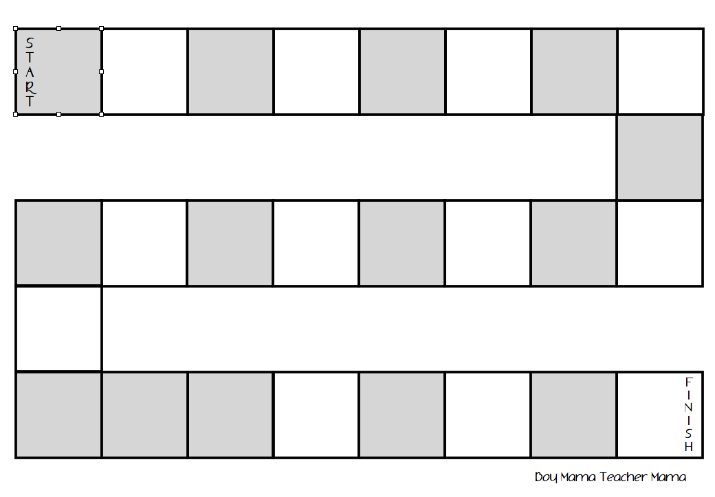 blank game board template