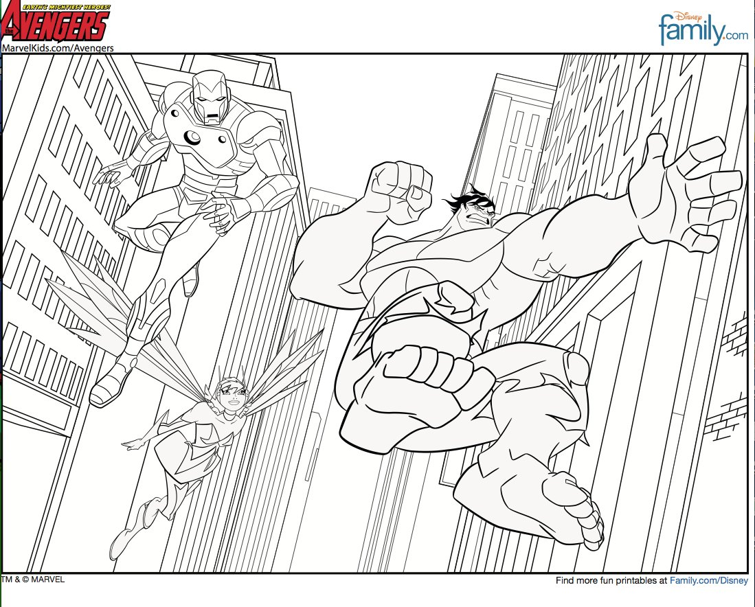 avengers coloring pages free printable - photo#1