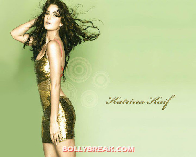 Katrina Kaif Hot slim figure golden shimmery dress - (7) - Katrina Kaif Hot Unseen Photos