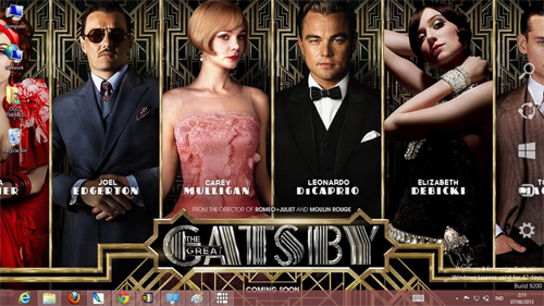 The Great Gatsby Theme For Windows 7 And 8