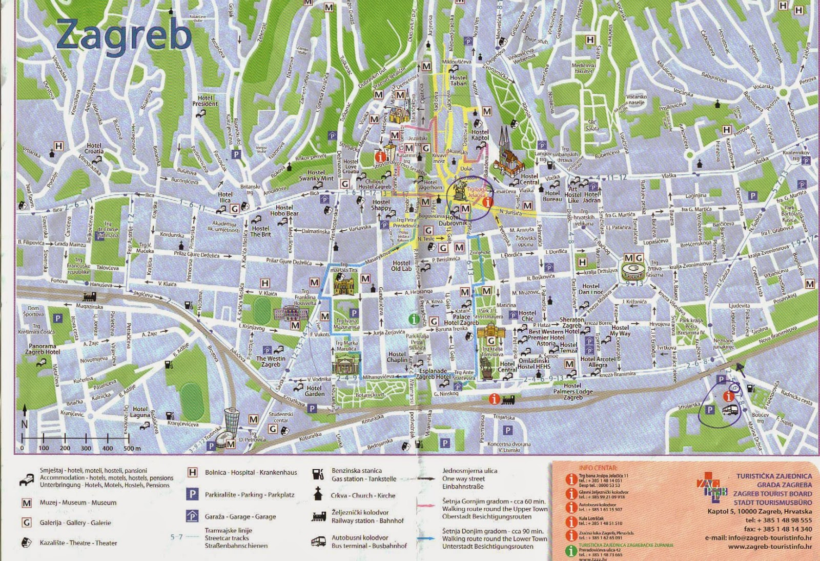 The cube central europe zagreb a walk at the upper town zagreb city map altavistaventures Choice Image