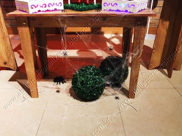 decoração festa infantil homem aranha provençal rustica