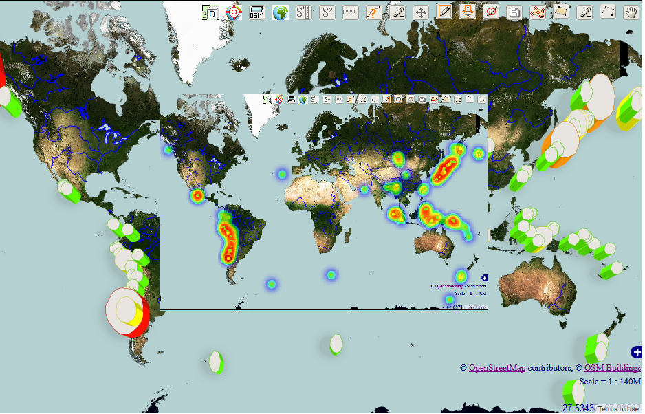 Openwebgis is free online gis the spatial distribution of great look at the interesting map of the most destructive earthquakes with magnitude of 8 to 10 values from 1905 to 2014 the data for this map was taken from gumiabroncs Image collections
