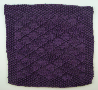 knit washcloth purple