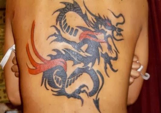 Tribal dragon tattoos designs for Dragon fire tattoos