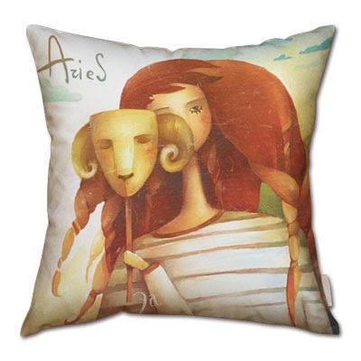 signo zodiacal aries en almohada