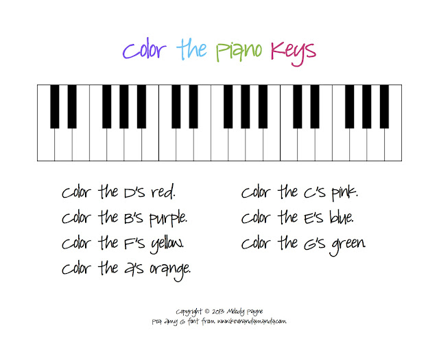 Piano Keyboard Worksheet | Free Printable Math Worksheets - Mibb ...
