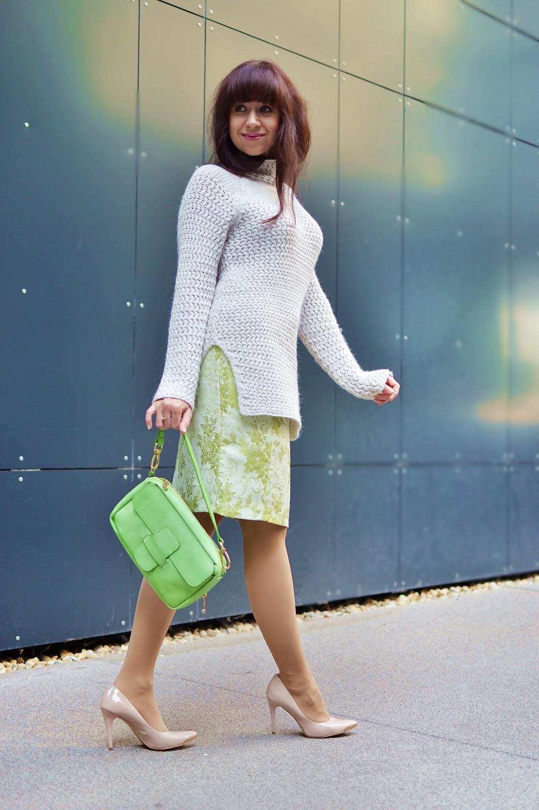 Čo by ste mali vedieť a neviete?_Katharine-fashion is beautiful_Žakárová sukňa_Telové lakované lodičky_Katarína Jakubčová_Fashion blogger