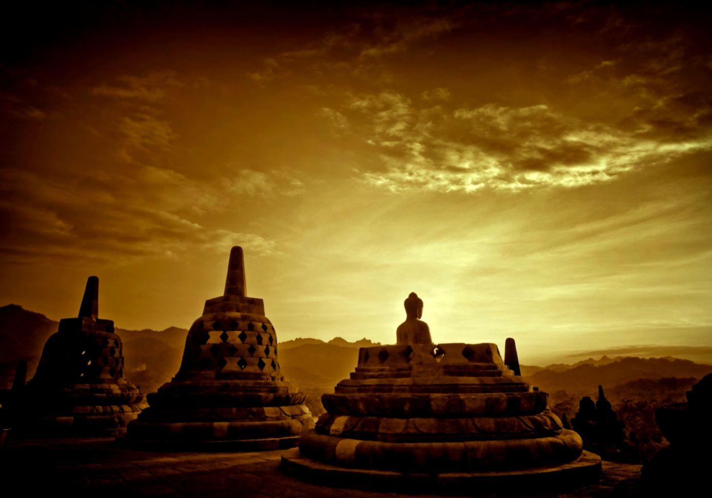 View Original Size Borobudur Temple At Afternoon HD Wallpaper