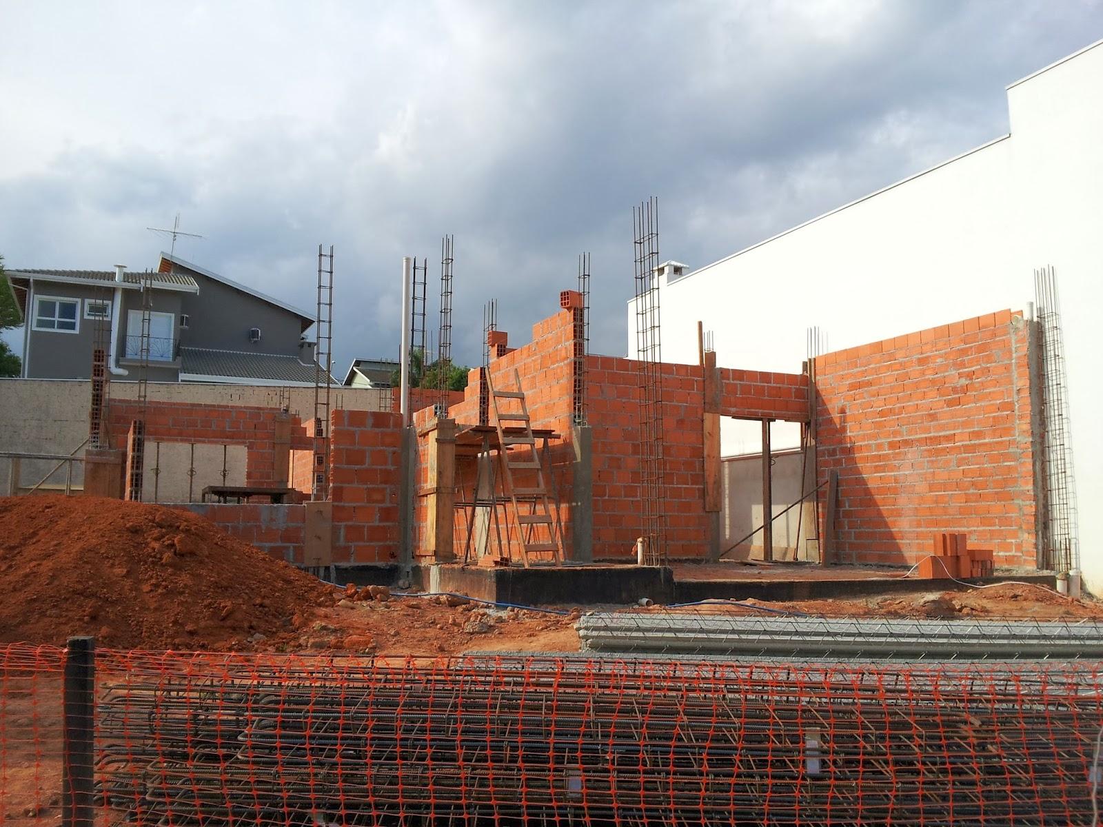 Muro de tijolo a vista fotos e modelos casa constru 237 da - Vista Frontal Da Casa
