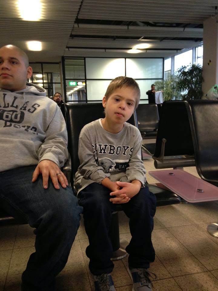 Roman at the airport headed home
