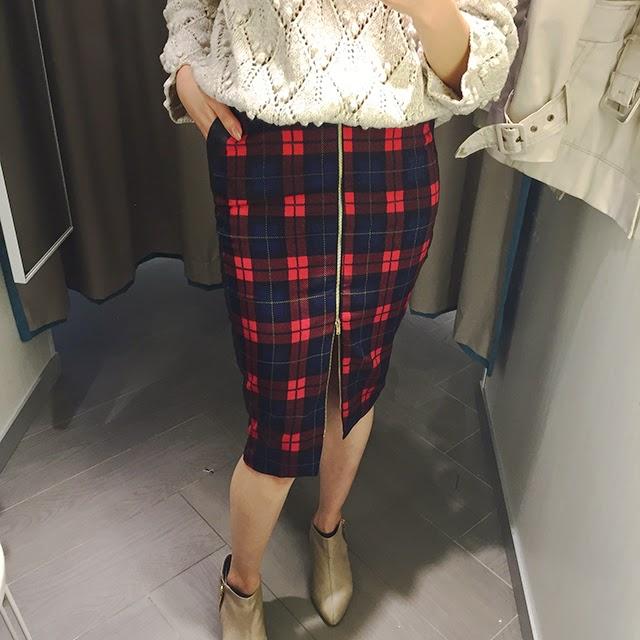 tartan print skirt by missguided