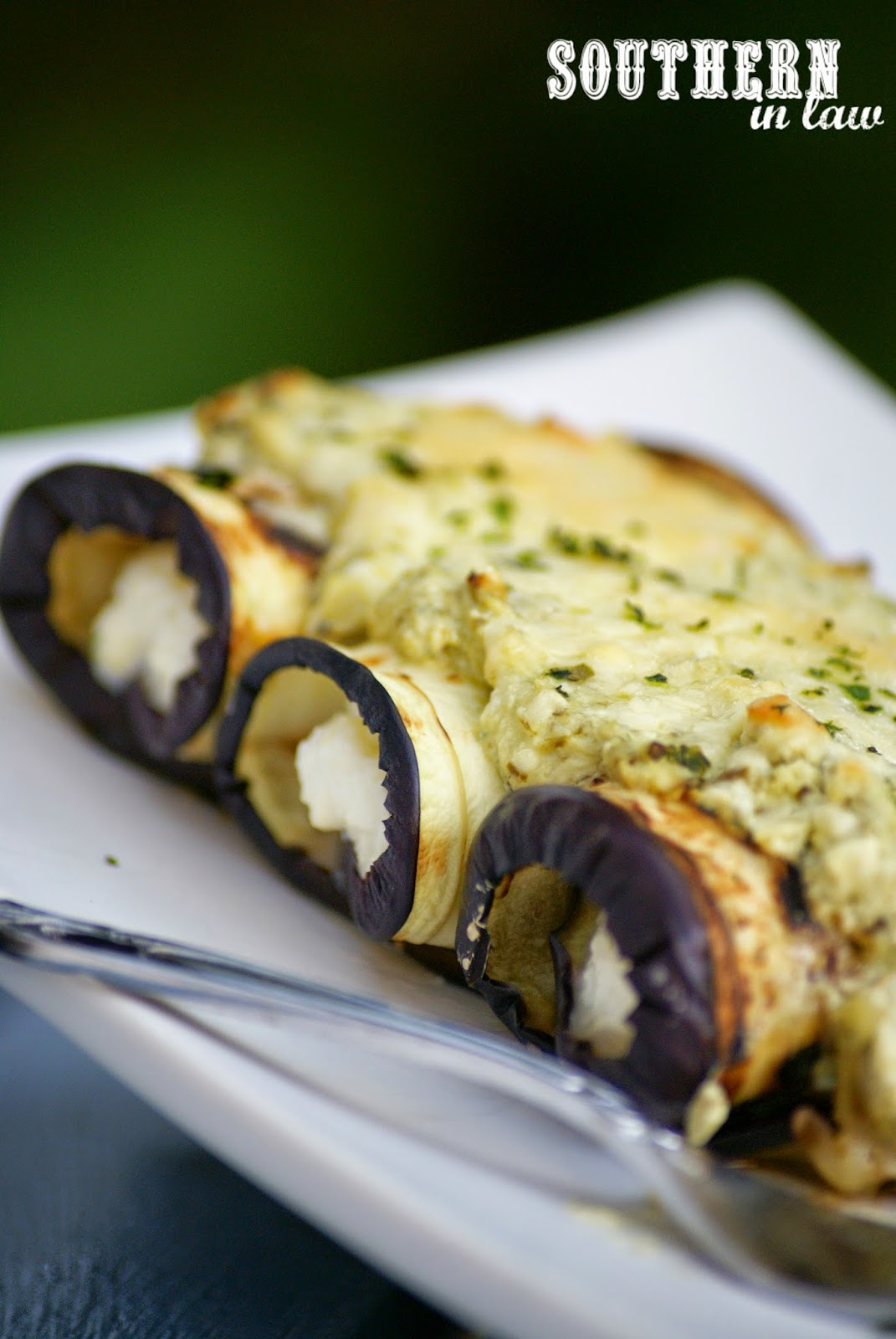 Low Fat Eggplant Involtini Recipe with Ricotta and Pesto - healthy, low fat, low carb, gluten free, egg free