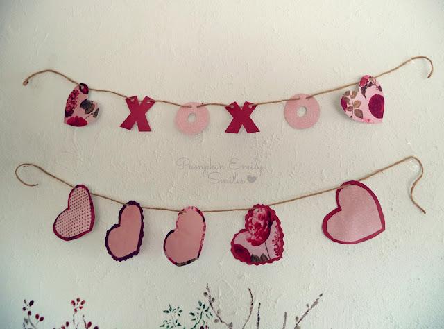 XOXO and heart garlands