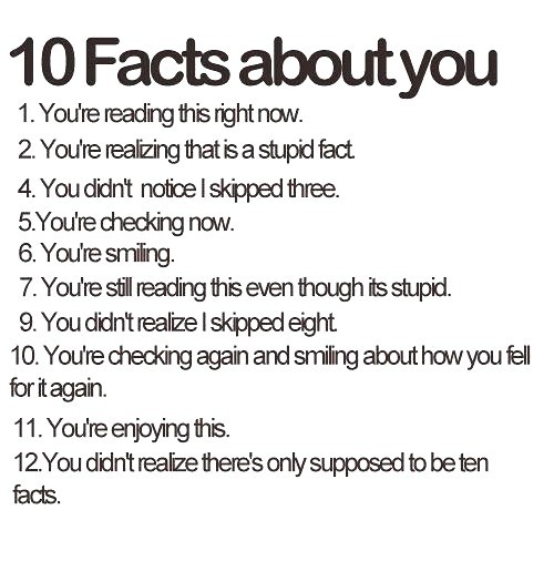 Facts About You Quotes