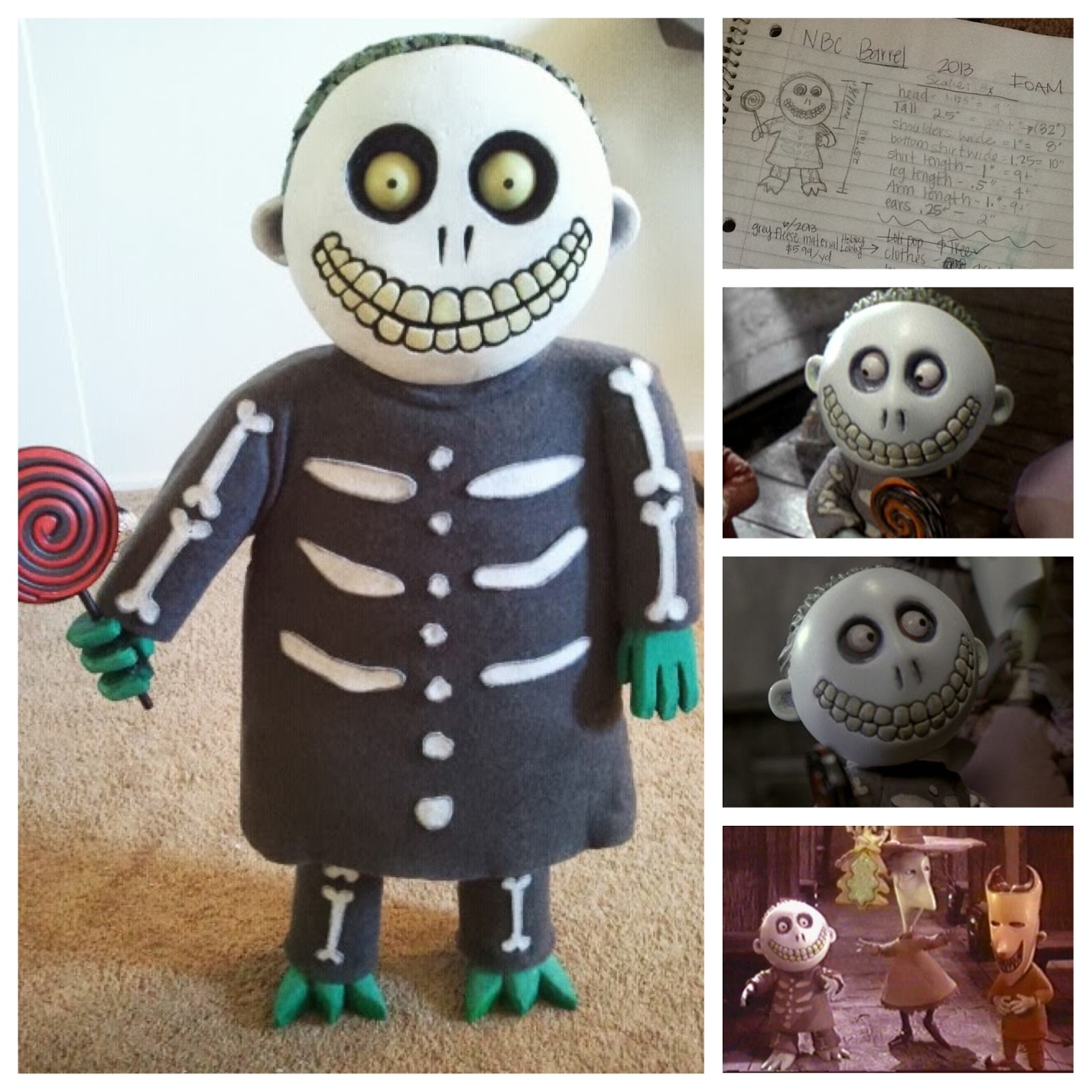 Diy nightmare before christmas halloween props nightmare before here is a tutorial on how to make a life size barrel from the movie he is one of the three trick or treater kids oogies henchmen lock shock barrel solutioingenieria Gallery