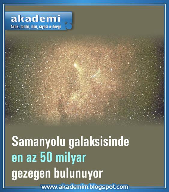 Samanyolu galaksisinde en az 50 milyar gezegen bulunuyor