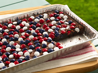 Red, White, and Blue Candy Topped Brownies by Betty Crocker