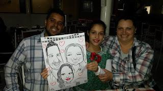 caricaturas em família