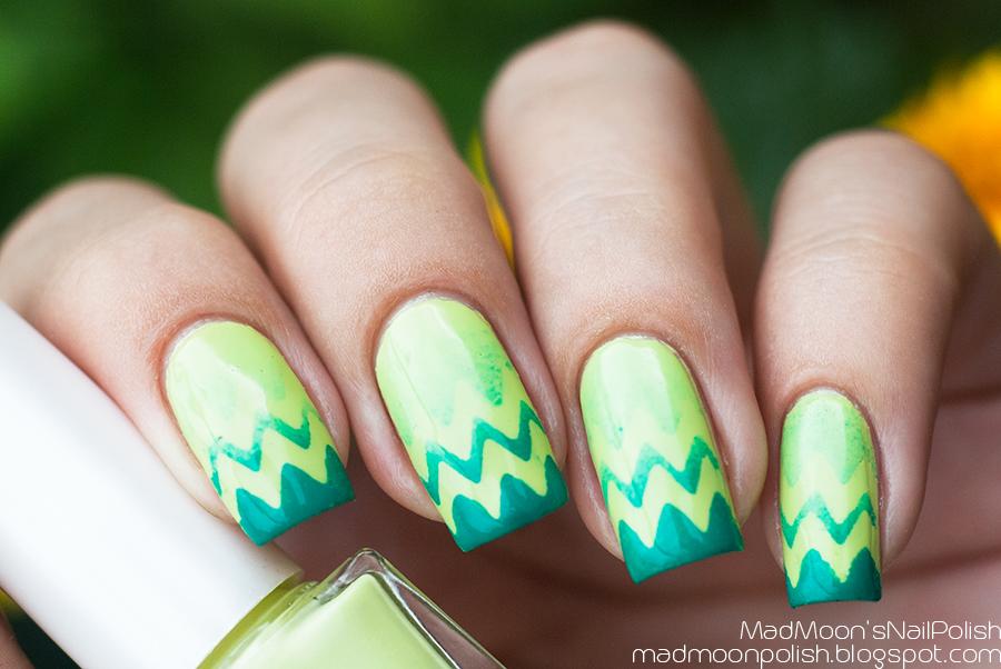 Градиент с зигзагами с Jovial Luxe 079 и Happy Nails Trend Color 060