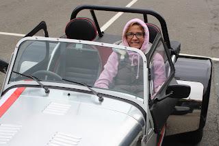 Birthday drive, Caterham, Husband