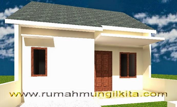 Renovasi rumah tipe 48 tanah 93 lebar 6 m - tampak depan rumah awal