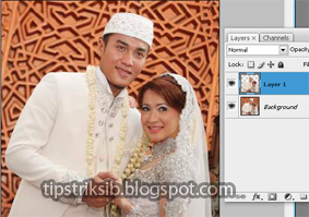 layer 1 agar mengubah background foto dengan background transparan