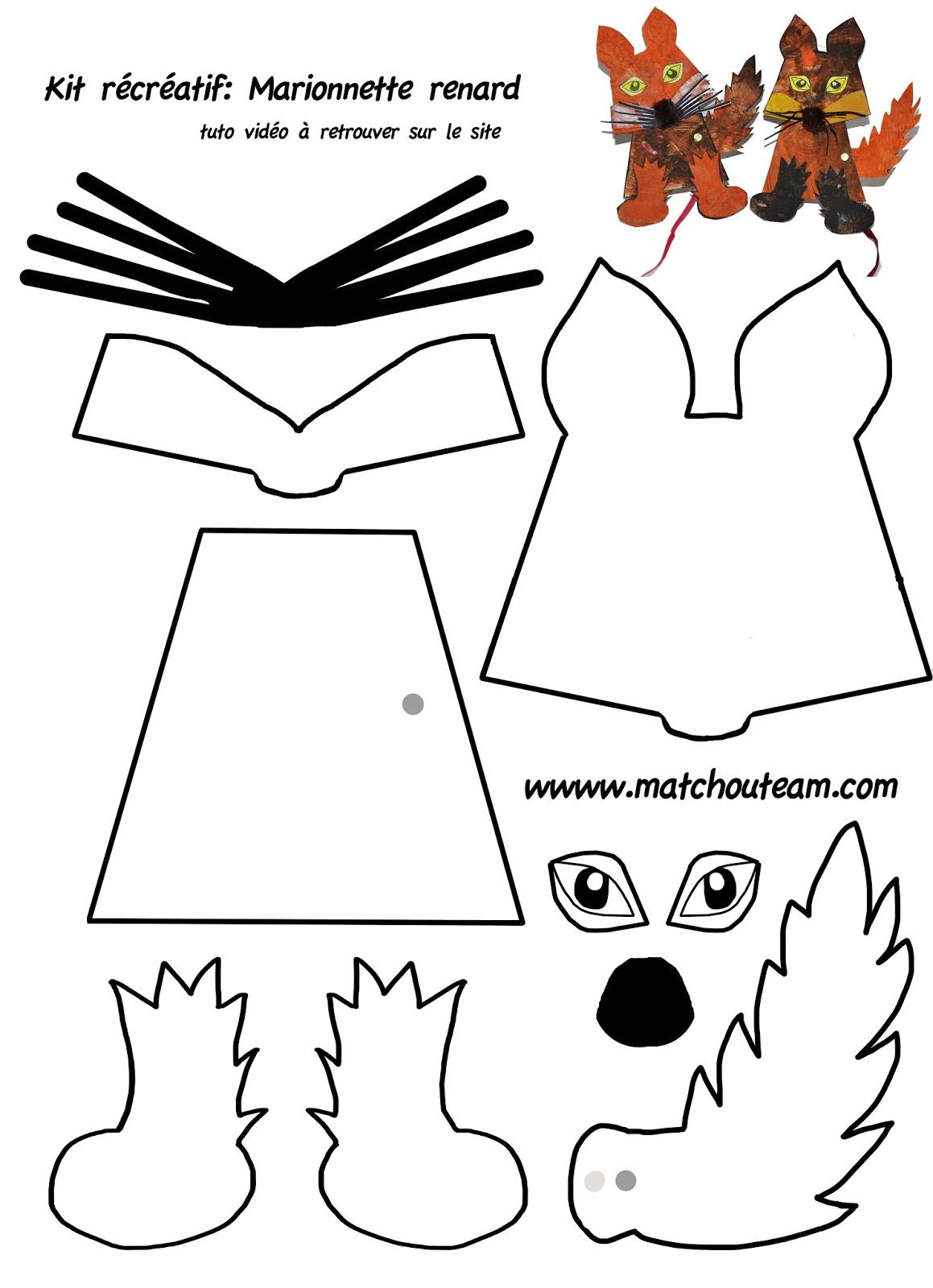 Ma tchou team marionnette renard fabriquer - Fabriquer une marionnette articulee ...