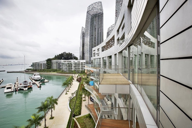 Reflections at Keppel Bay by Studio Daniel Libeskind from balcony