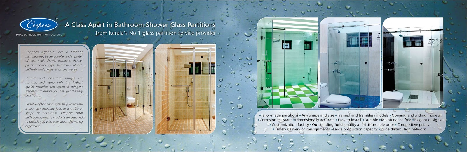 Shower Glass Partition | Bathroom Glass Partiiton