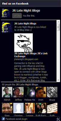 JR Late Night Blogs Facebook Page