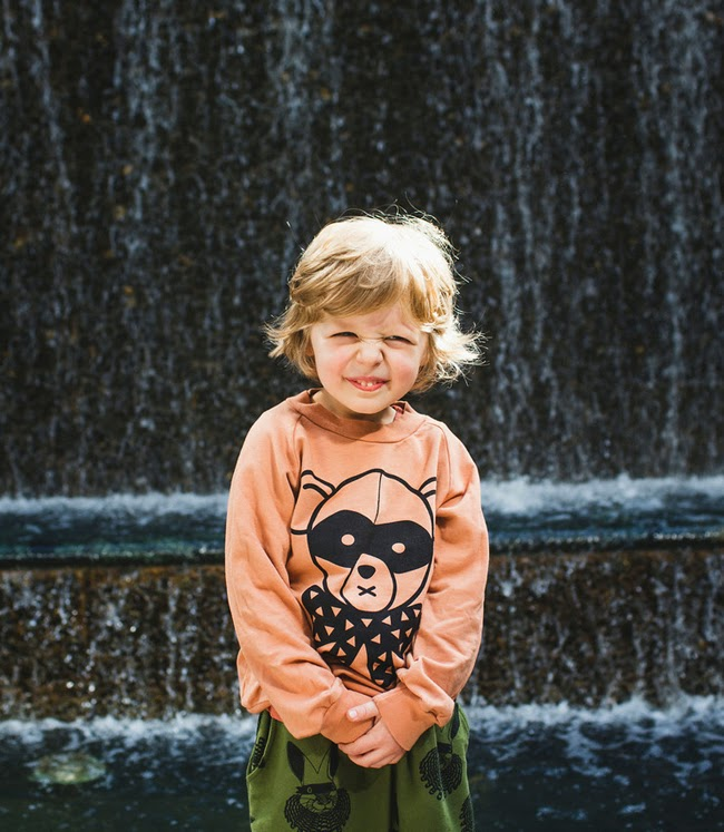 Bandit Bear sweatshirt by Quinn + Fox for Autumn-Winter 2014 kidswear collection