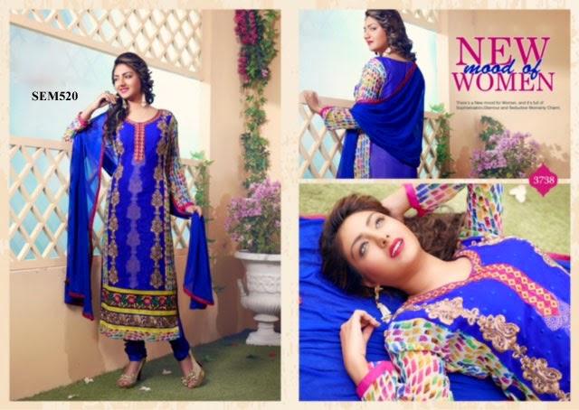 Exclusive Georgette Embroidery Long Salwar Kameez – Exporter