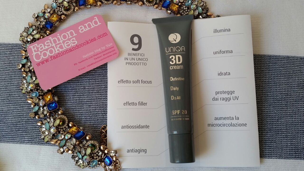 Uniqa by Pea Cosmetics products review:Uniqa 3d cream amazing product on Fashion and Cookies beauty blog