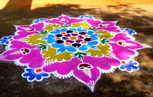Girls Corner Rangoli