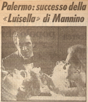 """Il gran successo di Pedro Farres in """"LUISELLA"""" Di Franco Mannino."""