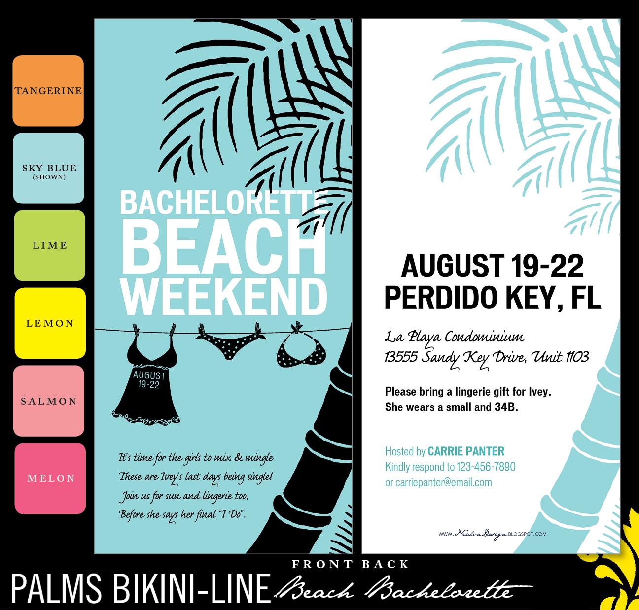 Bikini Line Designs Palms bikini-line beach