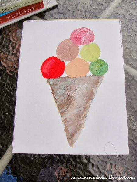 Painting of an ice cream: EuroAmericanHome