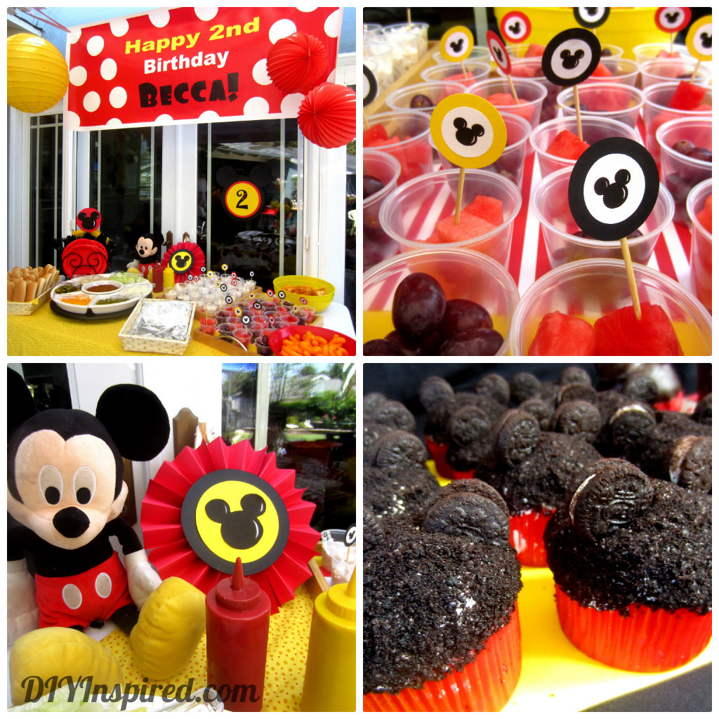 Party Hat: Candy Buffet Table: Mickey Mouse