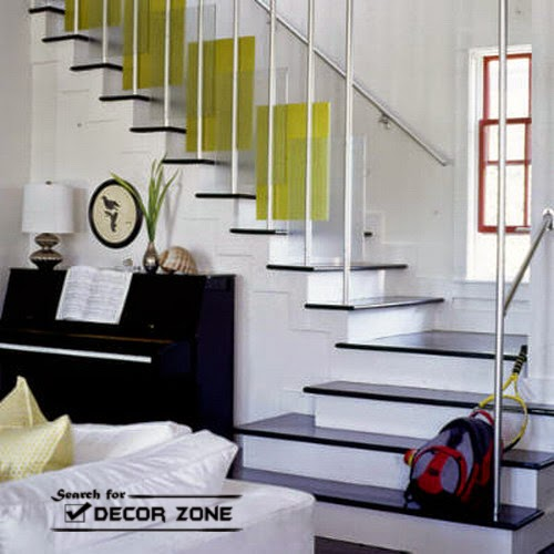 staircase design in classic structure with stainless steel railings. beautiful ideas. Home Design Ideas