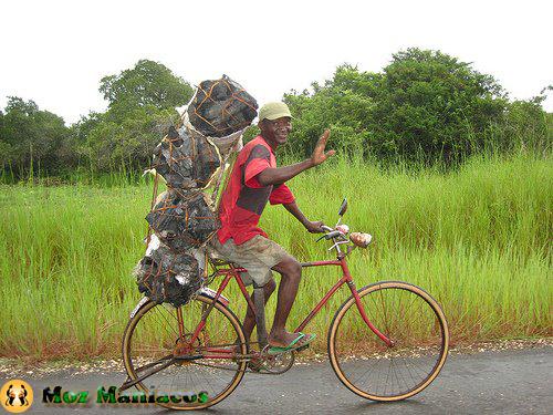 Bicicleta para transportar Carvão
