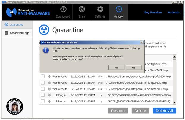 software untuk menghilangkan malware