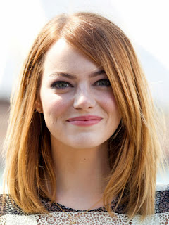 Emma Stone long bob straight Hairstyle